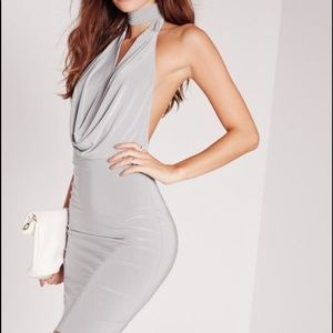 Missguided Neck Band Bodycon Dress